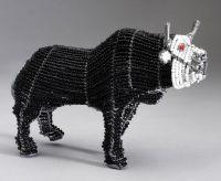 Med Beaded Wire Bull