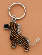 Beaded Wire Key Ring