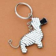 Beaded Wire Horse Key Ring