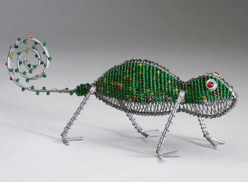 SM Beaded Wire Chameleon