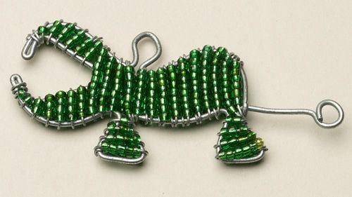 Beaded Wire Hippo