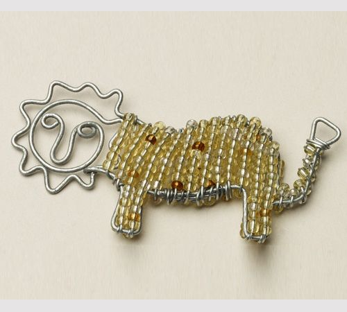 Beaded Wire Lion